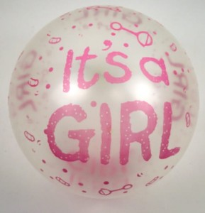 5szt Balony It's a GIRL Balon