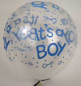 5szt Balony It's a BOY Balon